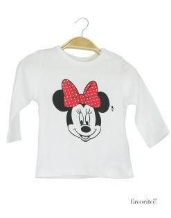 Bluza bebe, alba, Minnie Mouse