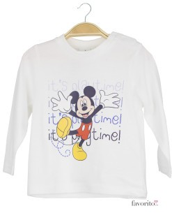 Bluza bebe, alba, play time, Mickey Mouse1