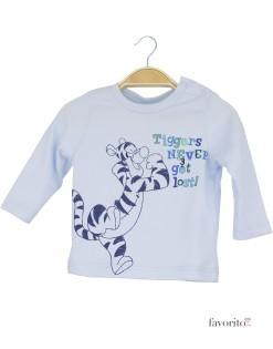 Bluza bebe, albastra, tigru1