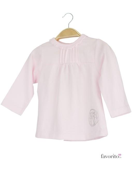 Bluza bebe roz, guler fodre, Grain de blé1