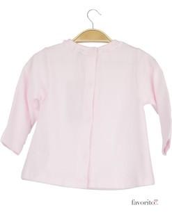 Bluza bebe roz, guler fodre, Grain de blé2