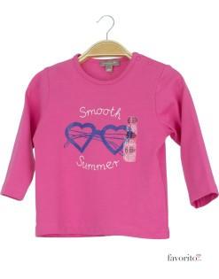 Bluza bebe roz inchis, summer, Grain de blé1