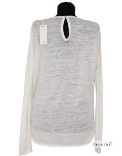 Bluza dama, alb cu argintiu, larga, GAS2