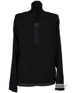 Bluza dama eleganta, voal negru, EDUCE2