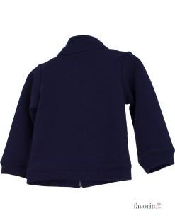 Bluza de trening bebe cu fermoar, bleumarin, Grain de blé2