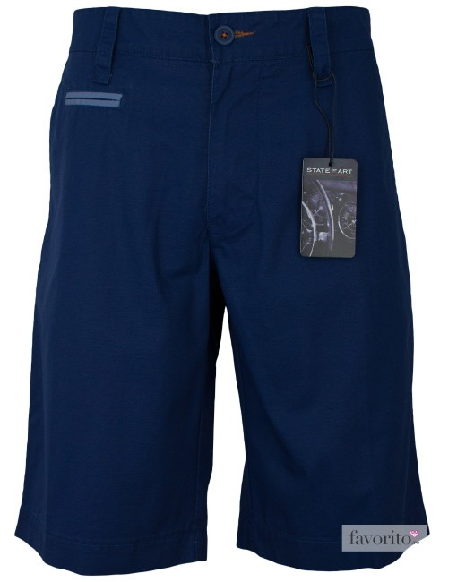 Pantaloni scurti casual barbati, bleumarin, State of Art1
