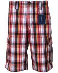 Pantaloni-scurti-casual-barbati,-carouri-multicolore,-State-of-Art1