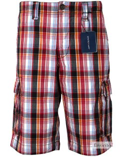 Pantaloni-scurti-casual-barbati,-carouri-multicolore,-State-of-Art1