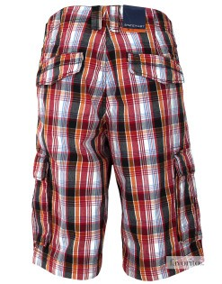 Pantaloni-scurti-casual-barbati,-carouri-multicolore,-State-of-Art2