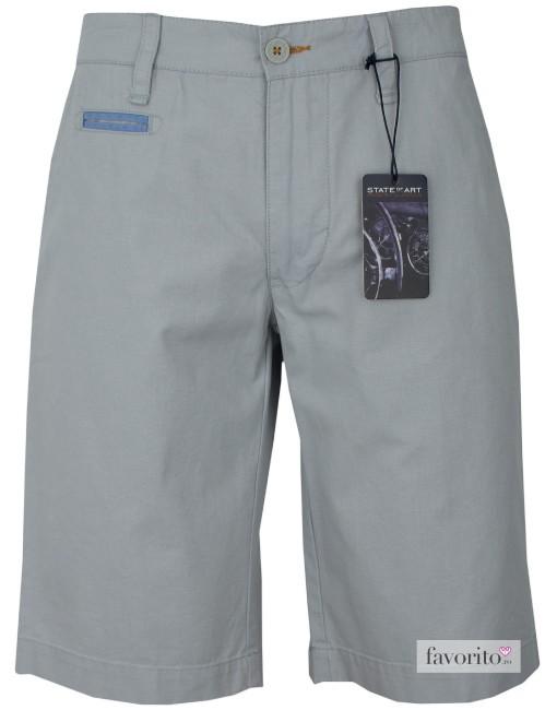Pantaloni scurti casual barbati, gri, State of Art1