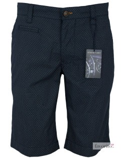 Pantaloni scurti casual barbati, gri inchis, imprimeu, State of Art1