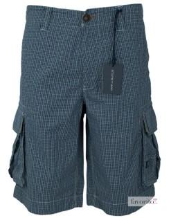 Pantaloni scurti casual, buzunare laterale, carouri gri, barbati State of Art1