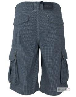 Pantaloni scurti casual, buzunare laterale, carouri gri, barbati State of Art2