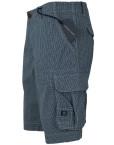 Pantaloni scurti casual, buzunare laterale, carouri gri, barbati State of Art3
