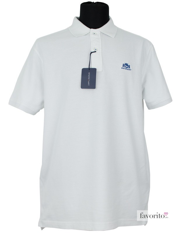 Tricou POLO barbati State of Art (Est. 87)alb1