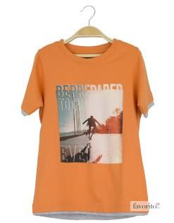 Tricou baieti, portocaliu, YCC1