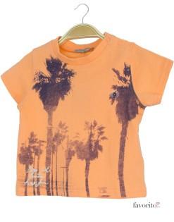 Tricou bebe baietei,portocaliu, palmieri, Grain de blé1