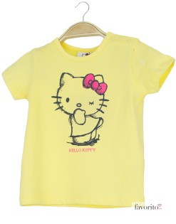 Tricou bebe, galben, Hello Kitty1