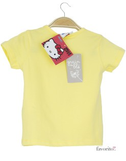 Tricou bebe, galben, Hello Kitty2