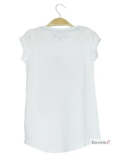 Tricou fete, alb, LISA ROSE2