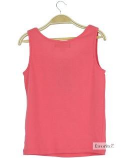 Tricou fete, fara maneca, roz, LISA ROSE2