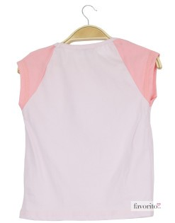 Tricou fete, roz duo, fundita, LISA ROSE2
