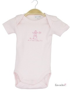 Body bebe, maneca scurta, dungulite roz, Dis Maman, Grain de blé1