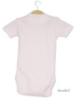 Body bebe, maneca scurta, dungulite roz, Dis Maman, Grain de blé2