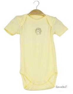 Body-bebe,-maneca-scurta,-galben,-ursulet,-Grain-de-blé1