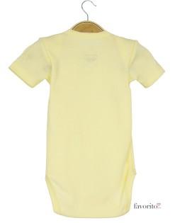 Body-bebe,-maneca-scurta,-galben,-ursulet,-Grain-de-blé2