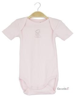Body bebe, maneca scurta, roz, cescute, Grain de blé