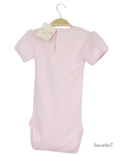 Body bebe, maneca scurta, roz, kiss, Grain de blé2
