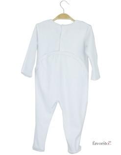 Body plusat bebe, alb, elefanti, Grain de blé2