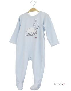 Body plusat bebe, albastru, stele, Grain de blé1