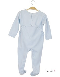 Body plusat bebe, albastru, stele, Grain de blé2