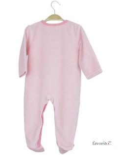 Body plusat bebe, roz, casuta, Grain de blé2