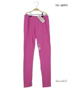 Colanti lungi din bumbac 95, fete, LISA ROSE-roz aprins