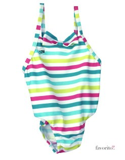 Costum baie intreg bebe, dungi color, Grain de ble1