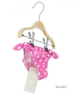 Costum baie tip slip pentru bebe, buline, Grain de ble