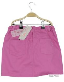 Fusta fete, denim roz, LISA ROSE2