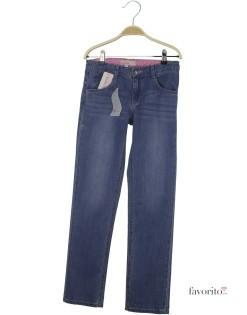 Jeansi pentru fete, albastru inchis, inimioare, LISA ROSE1