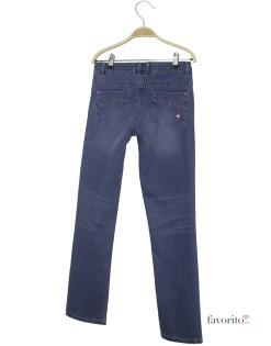 Jeansi pentru fete, albastru inchis, inimioare, LISA ROSE2