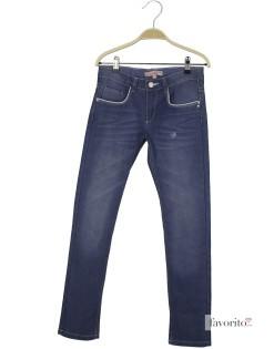 Jeansi pentru fete, contur argintiu, Denim by LISA ROSE1