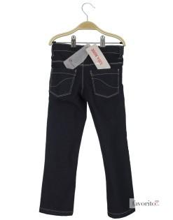 Jeansi pentru fete, indigo, contur alb, LISA ROSE2