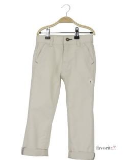 Pantaloni lungi baieti, alb-crem, YCC1