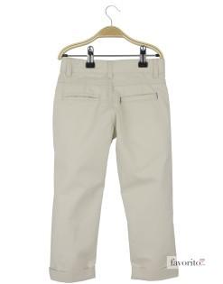 Pantaloni lungi baieti, alb-crem, YCC2