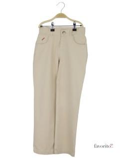 Pantaloni lungi baieti, beige, buzunar nasture, YCC1