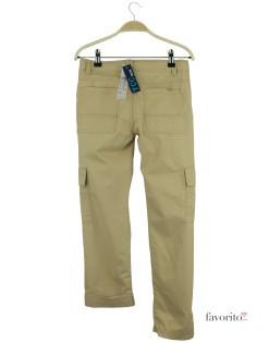 Pantaloni lungi baieti, crem, buzunare laterale, YCC2