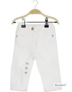 Pantaloni lungi bebe, fete, Bow, Grain de blé-alb1
