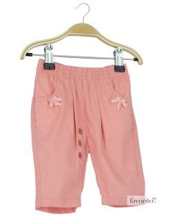 Pantaloni lungi bebe, fete, Peach, Grain de blé1